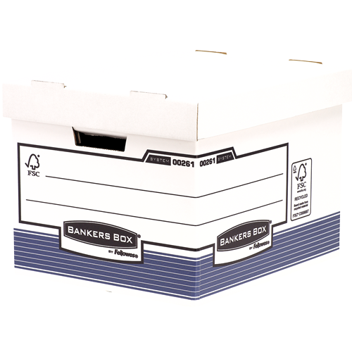 Bankers Box® System karton archiváló konténer standard, kék, 6 db/csomag SK