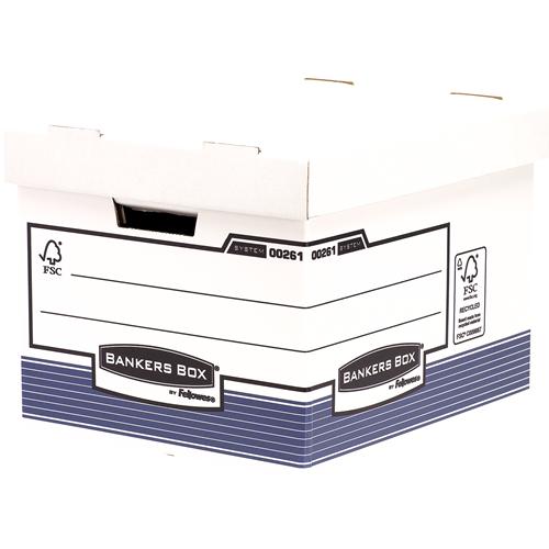 Bankers Box® System karton archiváló konténer standard, kék, 2 db/csomag SK
