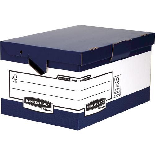 Bankers Box® csapófedeles archiváló konténer ergonomikus fogantyúkkal