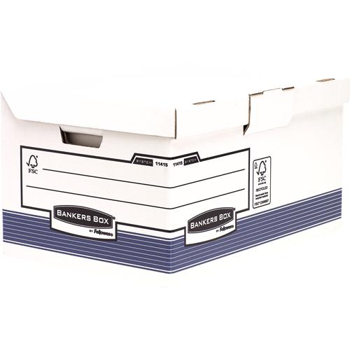 Bankers Box® System csapófedeles archiváló konténer, kék, 2 db/csomag