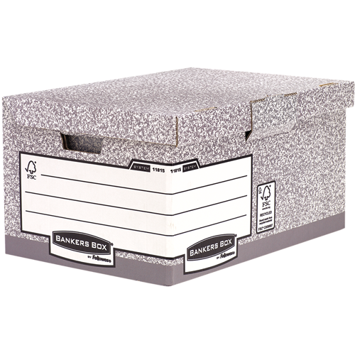 Bankers Box® System csapófedeles archiváló konténer, szürke SK