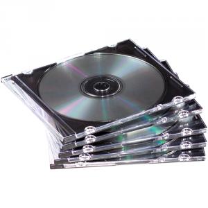 Vékony CD-tok, 1 db-os, átlátszó SL