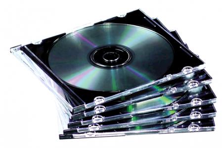 Vékony CD-tok, 1 db-os, átlátszó