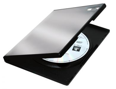 PP štandardné puzdro na DVD, 1-kusové, čierna
