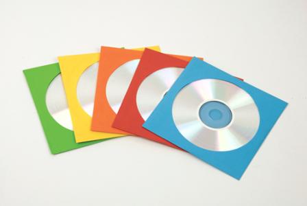 Papír CD/DVD boríték, ablakos, színes SL
