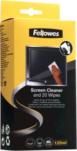 Képernyőtisztító készlet (125 ml folyadék + 20 db törlőkendő)