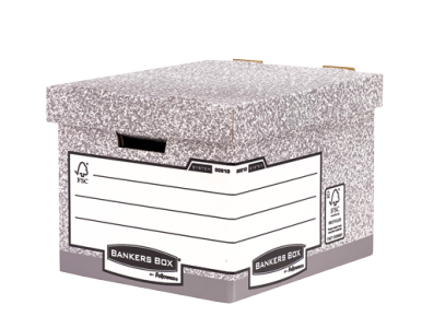 Bankers Box® System karton archiváló konténer standard, szürke, 2 db/csomag