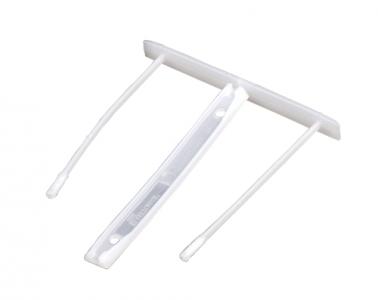 Bankers Box® Műanyag lefűző klipp, fehér SK
