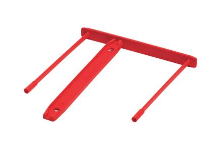 Bankers Box® Műanyag lefűző klipp, piros SK