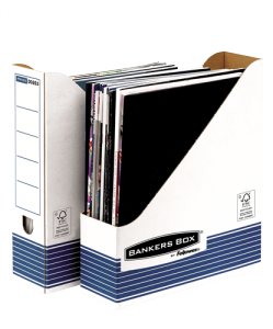 Bankers Box® System karton iratpapucs, kék