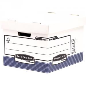 Bankers Box® System karton archiváló konténer (nagy, kék) SL