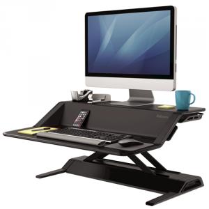 Lotus™ ülő/álló munkaállomás, fekete