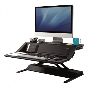 Lotus™ DX ülő/álló munkaállomás, fekete