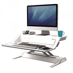 Lotus™ DX ülő/álló munkaállomás, fehér