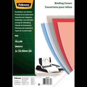 Folija PVC za vezavo – A4, 200 mic, rumena, prosojna