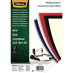 Platnice Delta A4, FSC® certifikat, črna, 25 kosov/zav