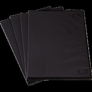 DVD tok, vékony, fekete