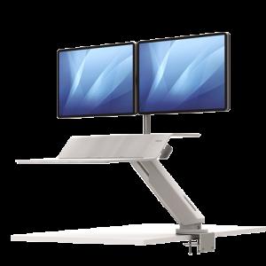 Lotus™ RT ülő/álló munkaállomás kettő monitorhoz, fehér