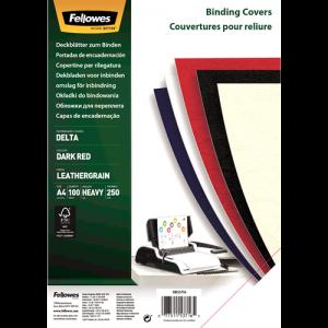 Platnice Delta A4, FSC® certifikat, temno rdeča, 100 kosov/zav