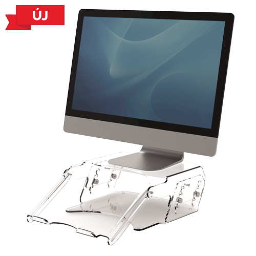 Clarity™ állítható magasságú monitorállvány, dokumentumtartóval