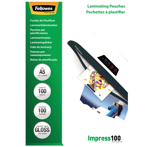 A5 fényes laminálófólia, 100 mikron, 100 db