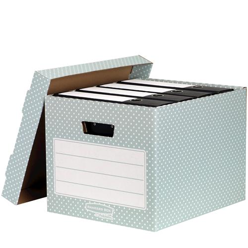 Bankers Box® Style otthoni tárolódoboz, zöld/fehér, 2 db/csomag