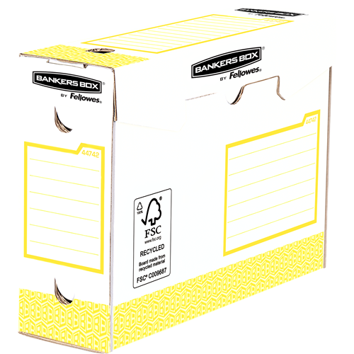 Bankers Box® Osnovna odporna škatla 100mm A4+, pakirano po 20 (rumena)