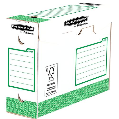 Bankers Box® Osnovna odporna škatla 100mm A4+, pakirano po 20 (zelena)