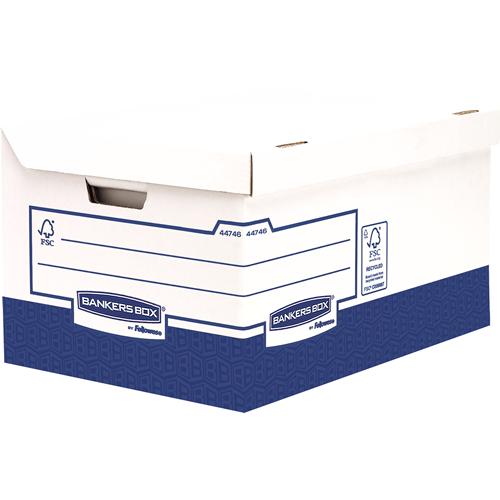 Bankers Box® Basic ultra erős archiváló konténer, kék/fehér, 10 db/csomag