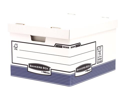 Bankers Box® System karton archiváló konténer (nagy, kék) SK