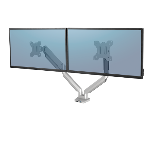 Platinum Series™ Dual monitortartó kar, két monitorhoz, ezüst