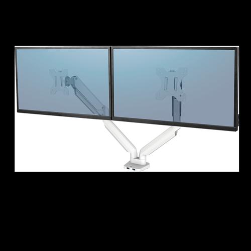 Platinum Series™ Dual monitortartó kar, két monitorhoz, fehér
