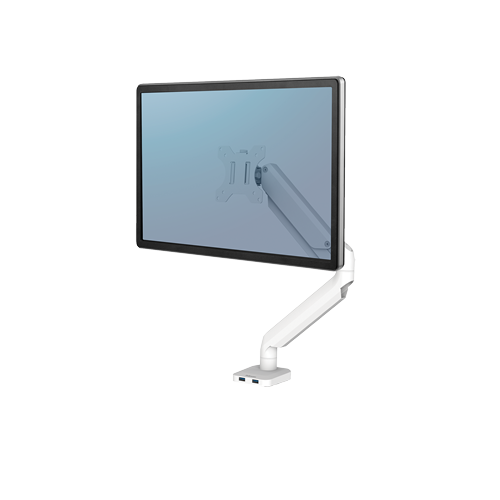 Platinum Series™ Single monitortartó kar, egy monitorhoz, fehér